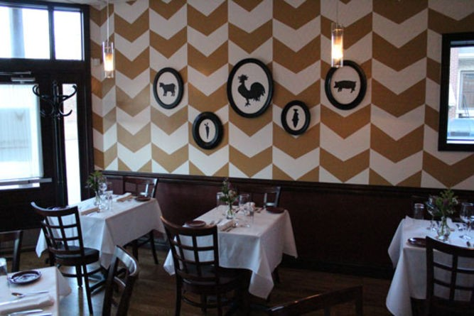 The dining room of Five Bistro - EVAN C. JONES