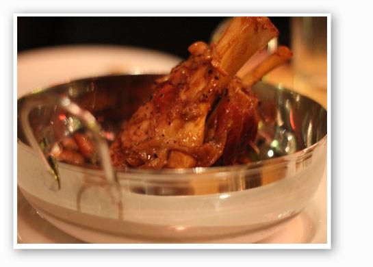Braised pork shank with caramelized vegetables. | Nancy Stiles