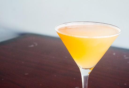 """""""The Muir"""" with peach vodka, peach Shnapps and peach nectar."""