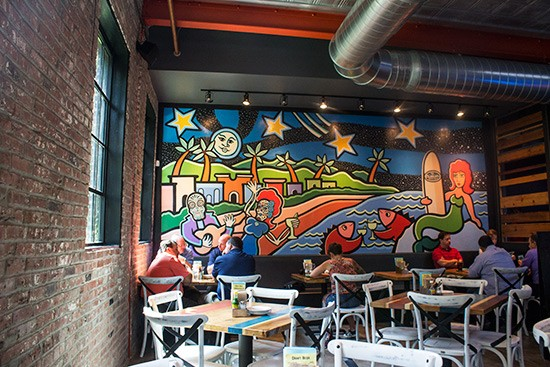 The dining room at Mission Taco Joint's Soulard location. | Photos by Mabel Suen