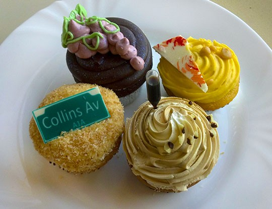 Jilly's Miami-inspired winning cupcakes.   Kaitlin Steinberg