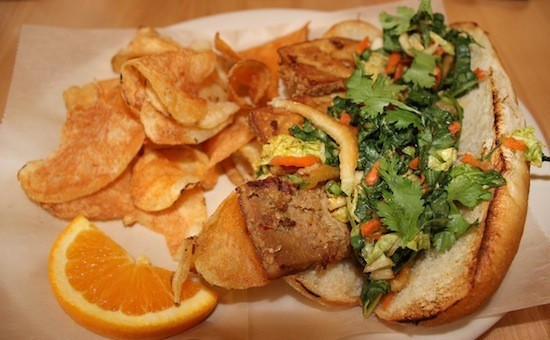 """The """"Organic Banh Mi"""" at Local Harvest Cafe & Catering downtown 