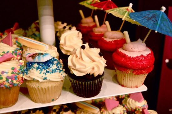 Cupcakes on display at Jilly's Cupcake Bar - ETTIE BERNEKING