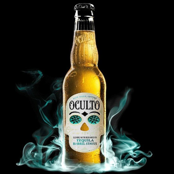 Oculto, a tequila-barrel-aged lager (also, mysterious). | Courtesy Anheuser-Busch