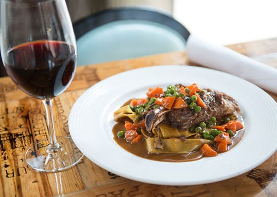 Braised lamb shank pappardelle at Robust.   Jennifer Silverberg
