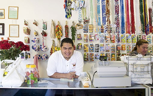The friendly 24 year old, Jose Coronel, seems to be the man-in-charge in this family owned Taqueria.  See photo slide show here. - PHOTO: JENNIFER SILVERBERG