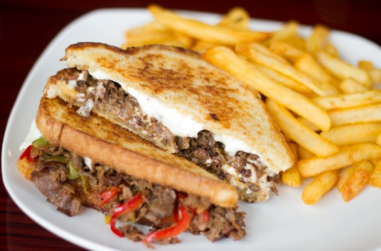 "The ""Cabana House Cheese Steak."""