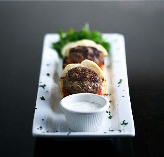LAMB KOFTE SLIDER AT PAN D'OLIVE | JENNIFER SILVERBERG