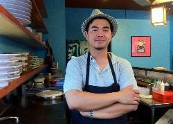 Blue Ocean Sushi's owner, A.K. - DANIELLE LESZCZ