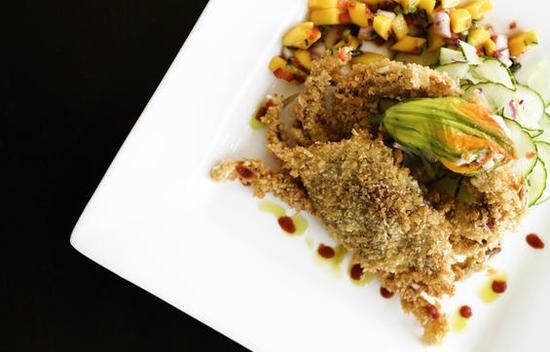 A soft-shell crab dish at Bixby's - JENNIFER SILVERBERG