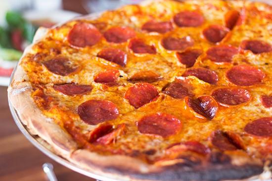 Yaqui's pepperoni pizza.