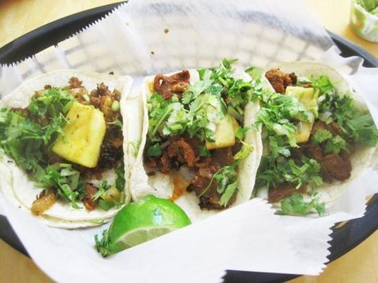 The tacos al pastor at La Vallesana. - IAN FROEB