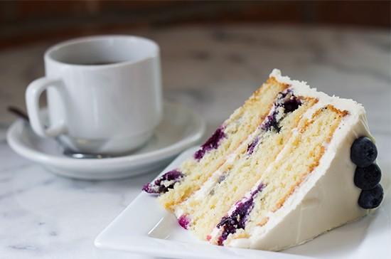 London Tea Room's blueberry-lemon cake. | Photos by Mabel Suen
