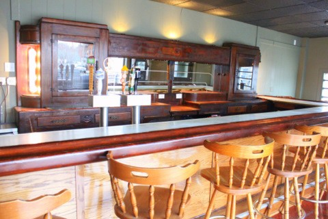 The bar (unfinished) at Halfway Haus - DIANA BENANTI