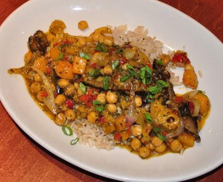 Vegan stir fry at WEGAP. | Tara Mahadevan