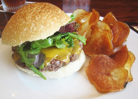 The famed Five Bistro burger. | Ian Froeb