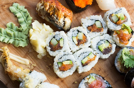 Sushi at United Provisions' the Dining District. | Photos by Mabel Suen