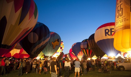 A scene from last year's Forest Park Balloon Glow - IMAGE VIA