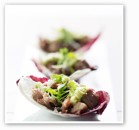 Crispy beef tongue with radicchio, fresh cheese, cilantro and avocado cream at Table, from        Cassy Vires. | Jennifer Silverberg