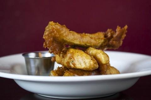 The fried pickles at Sassy JAC's | Jennifer Silverberg