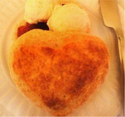Queen's Cuisine's heart-shaped scones - IMAGE VIA