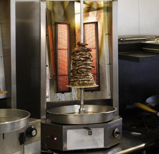 The shawarma spit at Central Cafe and Bakery in the Central West End. - JENNIFER SILVERBERG