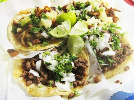 The carne asada and al pastor tacos at El Porton - IAN FROEB