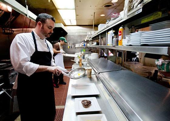 Brad Watts in the Kitchen at Liluma. | Jennifer Silverberg