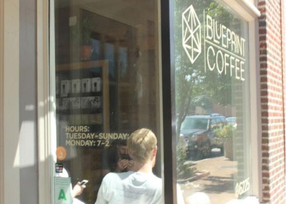 Outside Blueprint Coffee. | Nancy Stiles
