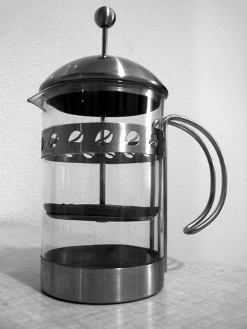 "A French press. - USER ""LELAND,"" WIKIMEDIA COMMONS"