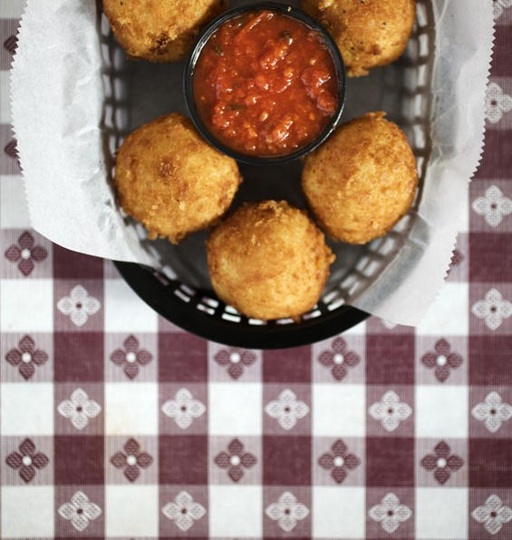 The arancini at Filomena's Italian Kitchen - JENNIFER SILVERBERG