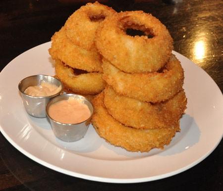 Ossa buttermilk onion rings at Triumph Grill. | Tara Mahadevan