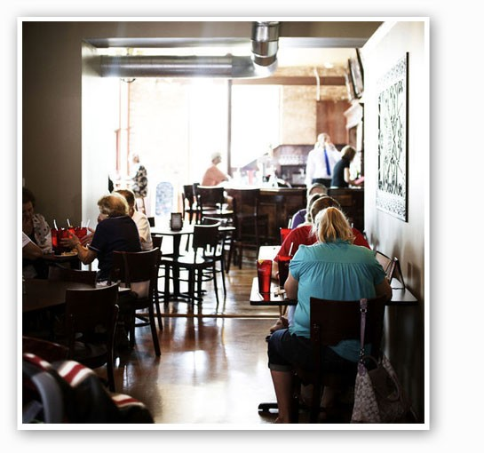 Inside Quincy Street Bistro. | Jennifer Silverberg