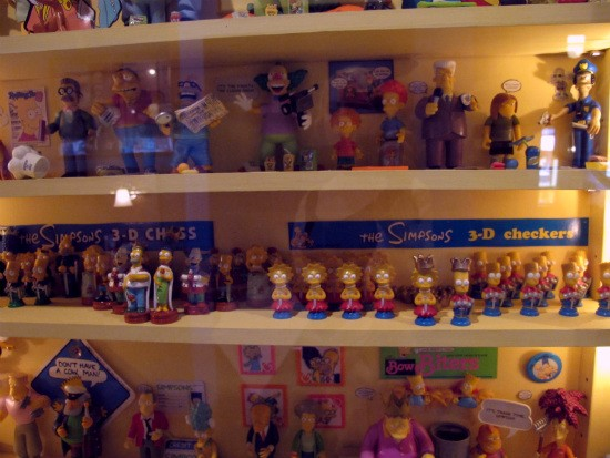 Simpsons collectibles make the cut, too. - IMAGE VIA