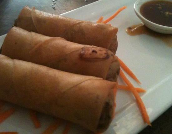 Crispy and flavorful, the pork spring rolls at Bobo Noodle House - ROBIN WHEELER