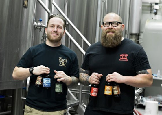 Head brewer Rod Burguiere and brewer John Donahoe. | Excel Brewing Company