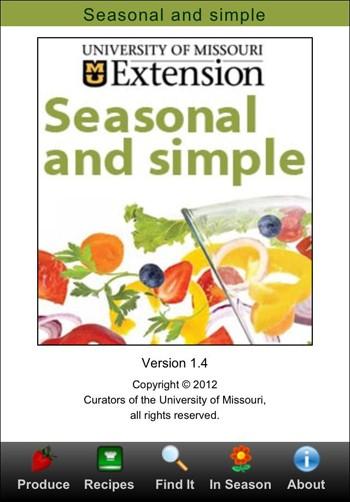 The Seasonal and Simple app. | MU Extension