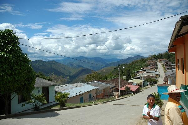 The village of Monserrate and its co-op president, Don Gabriel - COURTESY MIKE MARQUARD