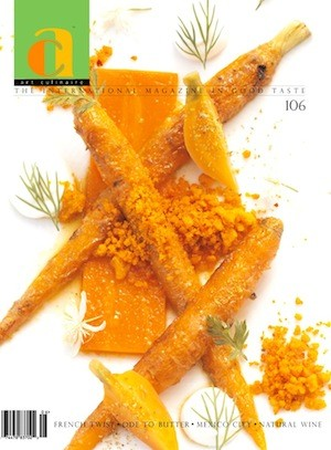 The cover of issue 106 of Art Culinaire featuring Gerard Craft's recipe.