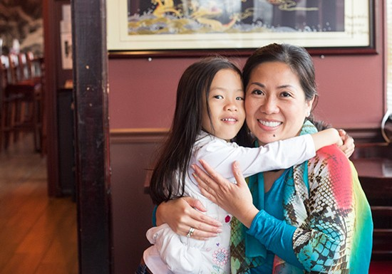 Owner Dee Dee Tran with her daughter, Lilian.
