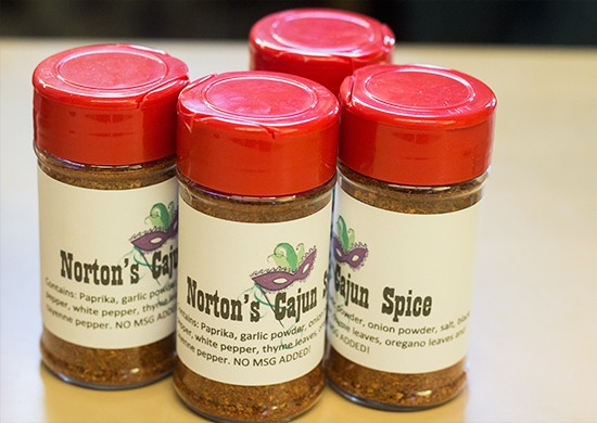 """Norton's Cajun Spice"" blend for sale."
