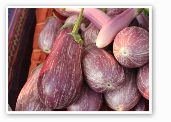 It's still grilling season, and eggplant is the perfect meatless main course. | Cheryl Baehr
