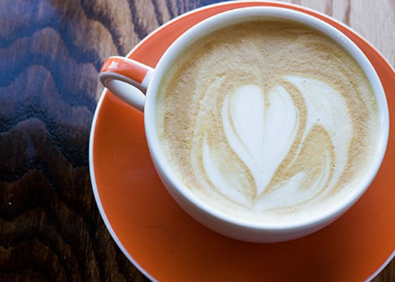 The latte at this year's choice for best coffeehouse, RISE Coffee. | Mabel Suen