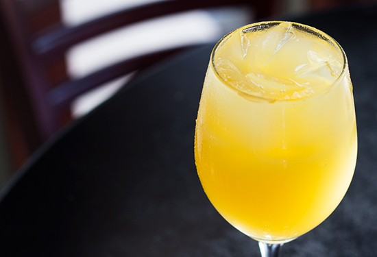 Sangria of the day with pineapple puree.