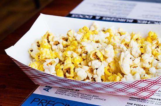 Some pre-meal popcorn.