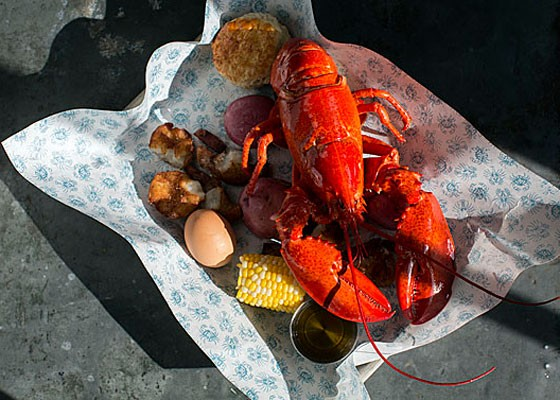 The Maine lobster boil at Peacemaker. | Jennifer Silverberg