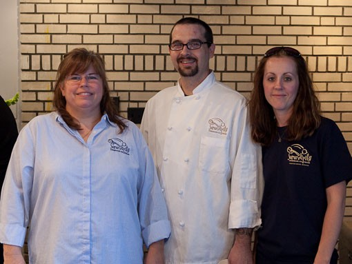 Beckie Jacobs and her team from Serendipity Ice Cream. - PHOTO: STEW SMITH