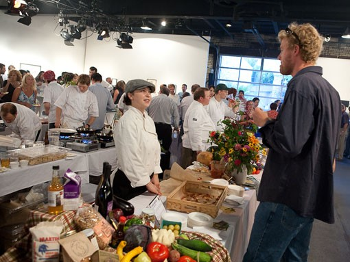 Chef Clara Moore from Local Harvest Cafe discusses her dish. - PHOTO: STEW SMITH