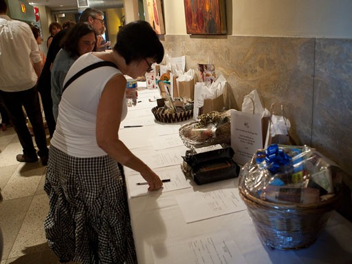 The Art of Food also held a silent auction where attendees could bid on gift baskets. - PHOTO: STEW SMITH
