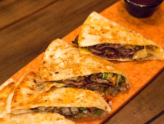 Tamm Avenue Grill's beef-brisket quesadilla. | Photos by Mabel Suen